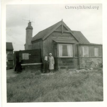 Aubrey & Kay Stevens outside what is believed to be 'Mispah' | Stevens