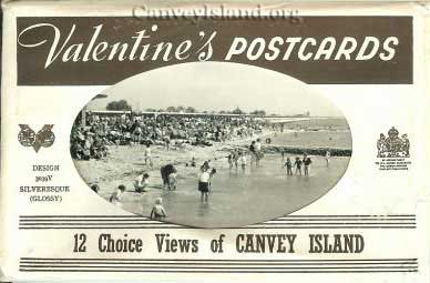 Valentine's Postcards Envelope - 12 choice views of Canvey