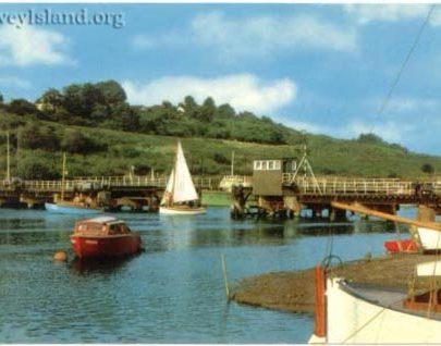 A yacht travels west through the open Bridge | David Bullock