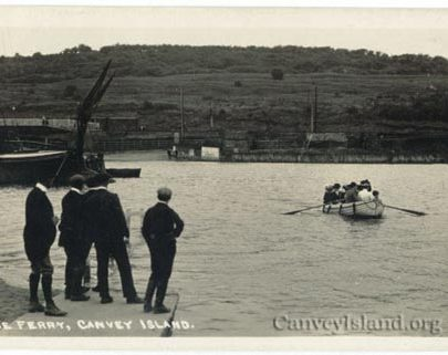 On the ramp looking North towards a very un-populated Downs - Canvey Ferry (Posted 1922) | Jim Gray