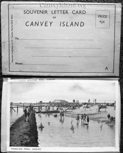 Souvenir Letter Card of Canvey Island - Price 4(1/2)d