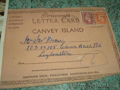 Souvenir Letter Card of Canvey Island