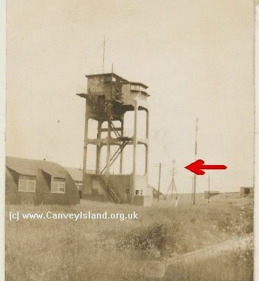 WW2 Army Camp at Thorney Bay showing 'The Canvey Lady' arrowed | John Windell