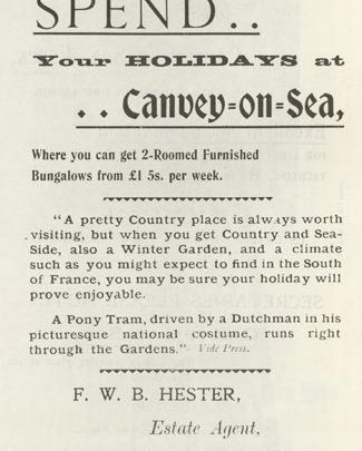 Hester advertisement for Canvey-on-Sea