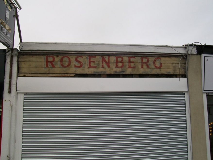 The old sign for Rosenberg Tailors | Graham Stevens