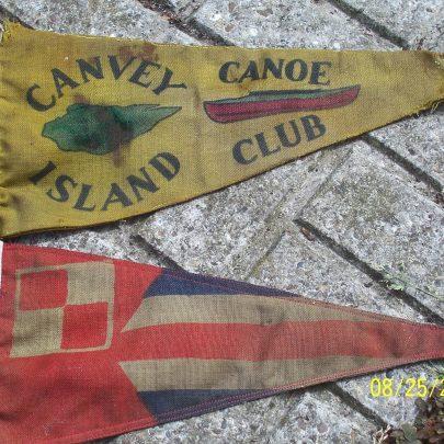 Club pennant and British Canoe Union one | Ian