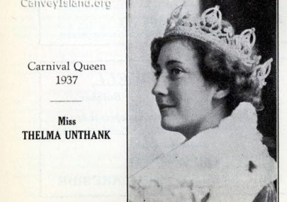 Thelma Unthank Carnival Queen 1937
