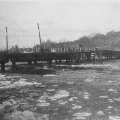 13 1947 Canvey bridge with a frozen creek below. | Marian Patten