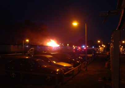 Caravan fires at Thorney Bay camp