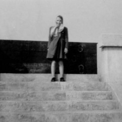 14 Betty on the steps of the 1950s sea wall. | Marian Patten