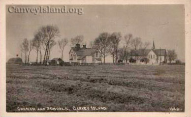 St Kats & the old School (left) that burnt down - Canvey Island | David Bullock