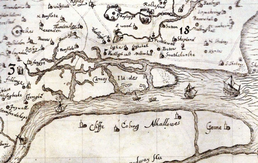 Map of Canvey Island 1594