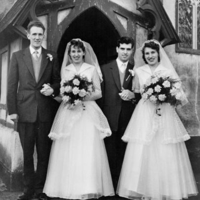 15 The twins, Doreen and Yvonne Hesketh, wedding at St Katherine's church | Marian Patten