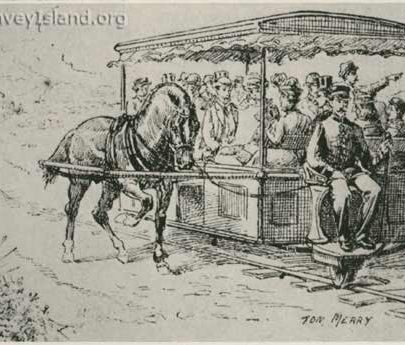 Hester's Monorail as drawn by Tom Merry the actual vehicle did not quite live up to this