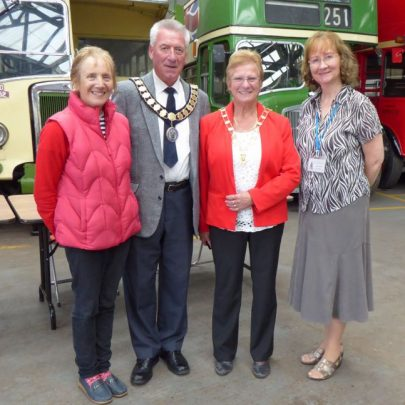 Marian Patten, Town Council Mayor Alan, his wife Ann and Janet from Canvey Community Archive | J.Walden