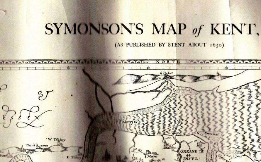 Symonson's Map of Kent c1650