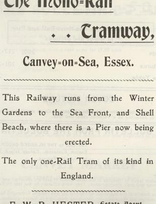 Advertising the Mono Rail - 1902