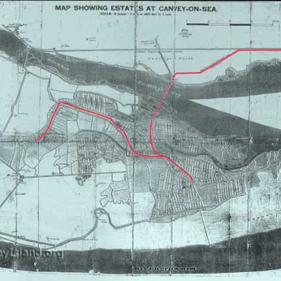1902 Hester Map clearly showing the planned route for electrification