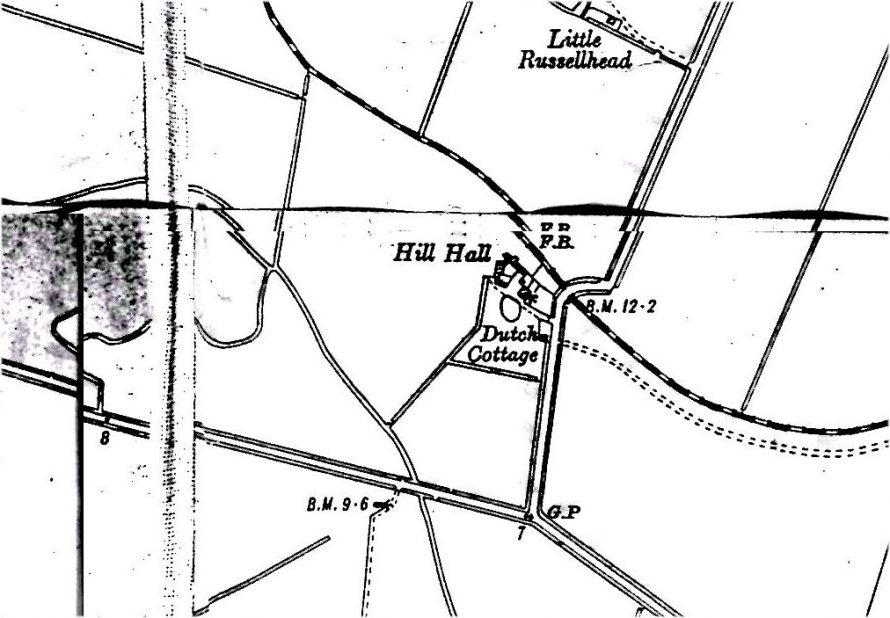 Map of Hill Hall Farm and Dutch Cottage