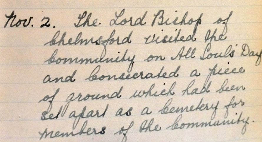 From the Convent's Diary 1932 | Courtesy of Douai Abbey Library and Archives