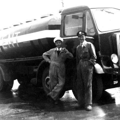 1958: Henry Hollingbery with his Regent Oil Company Oil Tanker | Shirley Thomas