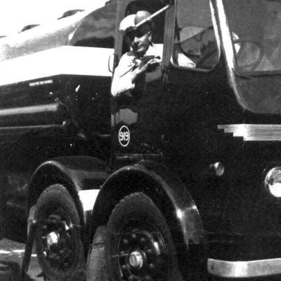1962: Harry Hollingbery and his tanker | Shirley Thomas