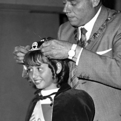1971: Kerry Thomas receiving her Carnival Junior Princess tiara and sash | Shirley Thomas