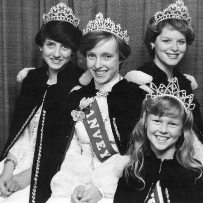 1981 Queen Anita Evans and Court | Echo Newspaper Archive