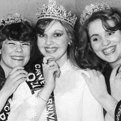 1982 Queen Amanda Fairhall and court | Echo Newspaper Archive