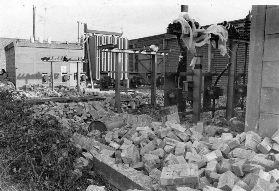 Damage to Electricity Sub-station | Echo Newspaper Archive