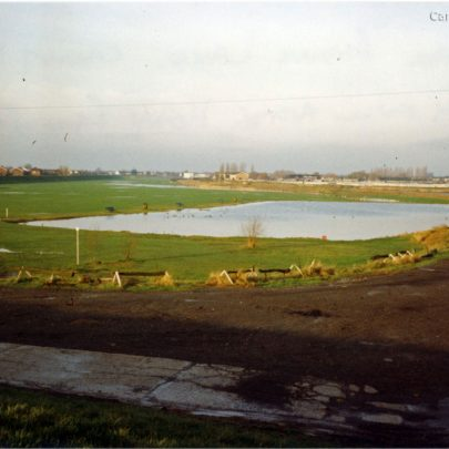 Smallgains Creek boating pool after heavy rain in 1993 | Stan & Vera Oaker