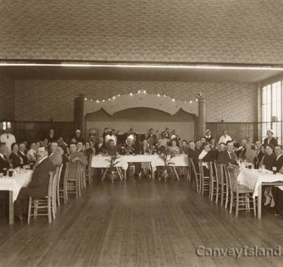 Casino Ballroom - Staff party after the building of the Monico inc Bill Lynaham, Harry Lake, Len Mage & Sam Scott | ©Swann