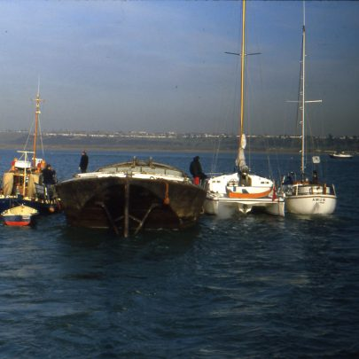 Barge arriving in the creek | IAN
