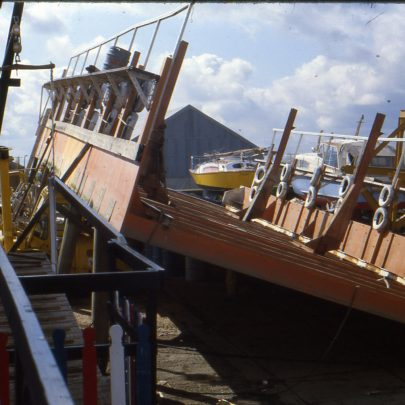 Work on drydock prior to launching | Ian