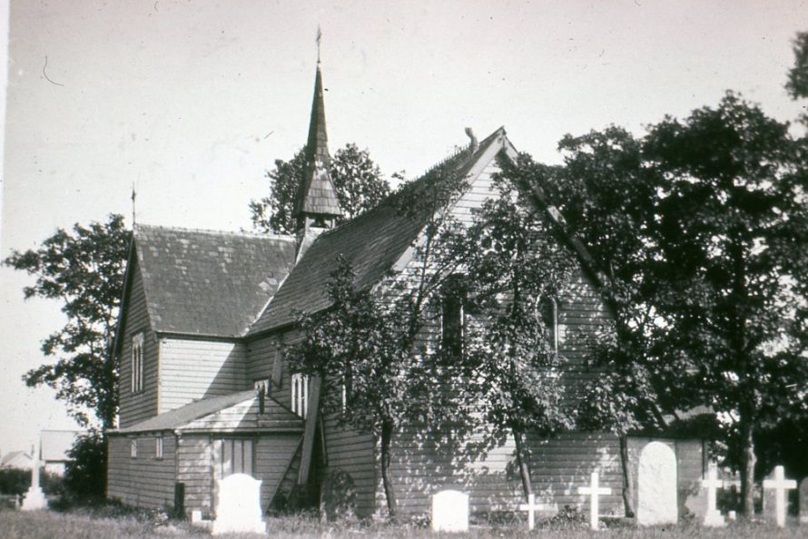 View of the church from the west. Notice the roof on what is now the kitchen | Horace Read