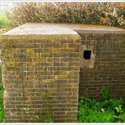 Rear view of the Pillbox - The entrance is by the small loop | (c) David Bullock