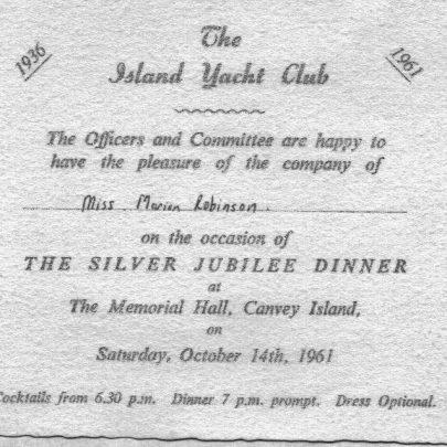 30 Island Yacht Club Silver Jubilee. 1961 | Marian Patten