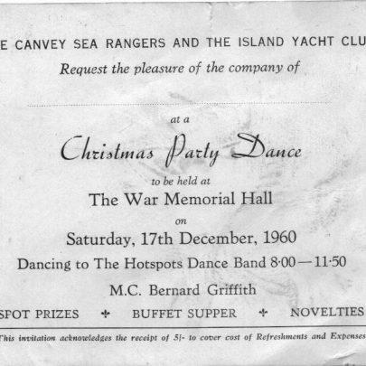 33 Sea Rangers invitation | Marian Patten