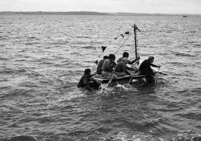 Raft race off Canvey Seafront