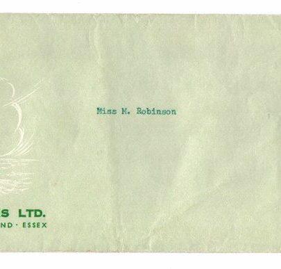 34 Prout envelope | Marian Patten