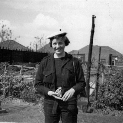 Marian in her Sea Cadet uniform | Marian Patten