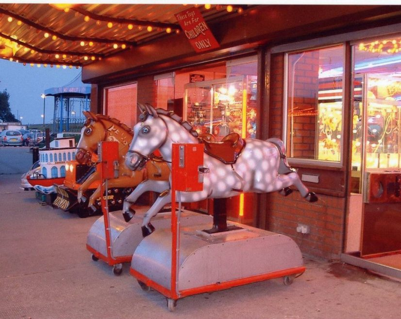 Great picture of the Casino Horses taken when they were outside the Carousel with the band stand on the left | Vince Heatherson