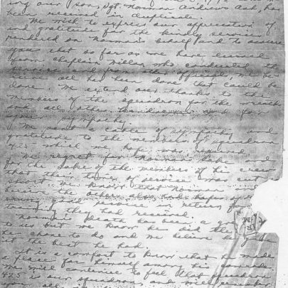 Letter from the family of Flt Sgt Ash of Peace River, Alberta | National Archives of Canada