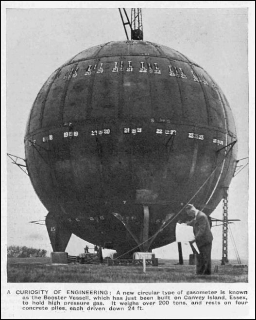 Canvey's Gas holder 1935-37
