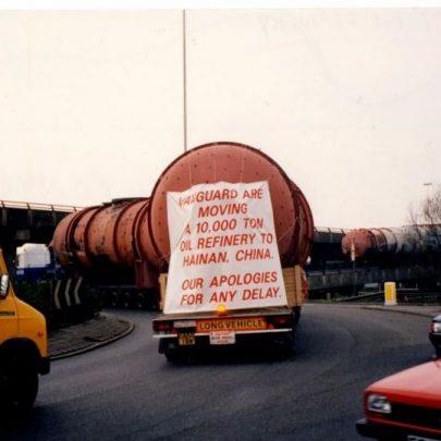 The Battle is finally won. Refinery equipment being removed. March 1993. | Echo Newsapers