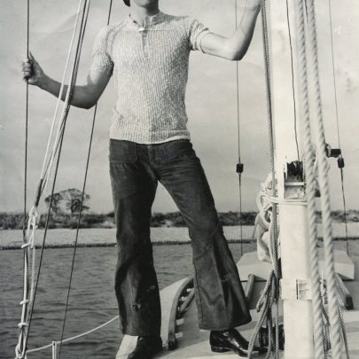 Bob Hawbridge, aged 22, on the summer day in 1972 that he set sail on a single handed bid for a non-stop voyage round the world. | Echo Newspaper Archive