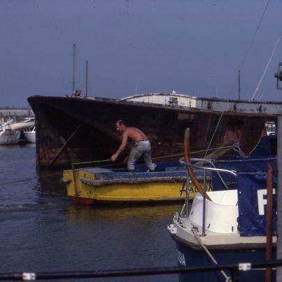 David Powel, Harbour Master berthing Barge | Ian
