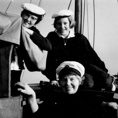 Feb - March 1961 Grace Loader, Mary Knopp 'Skipper', Madge Moore aboard the Sea Ranger. | Marian Patten