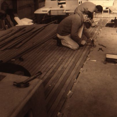 Laying teak deck planking | Ian