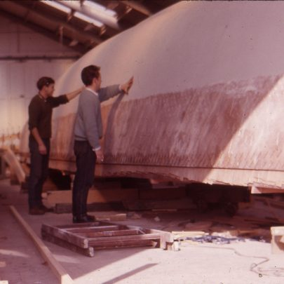 Sanding hull ready for painting | Ian